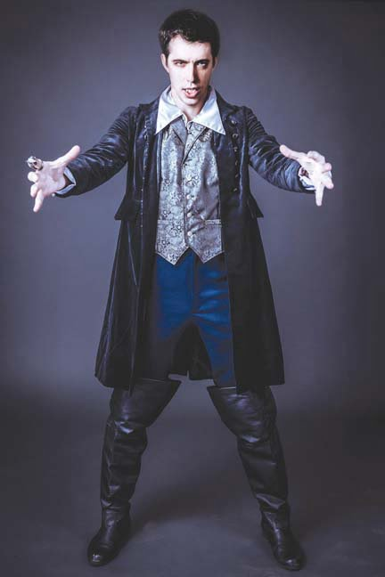 Count Dracula as portrayed by Scott Sowonski (Photo courtesy of Greenbrier Valley Theatre)