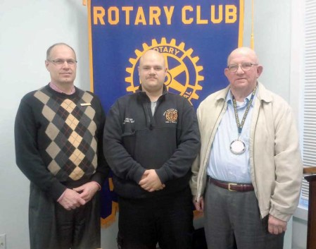Rotarians John Gillespie (left), Matt Peltier and Club President Emory Bowyer. WSS rotary club