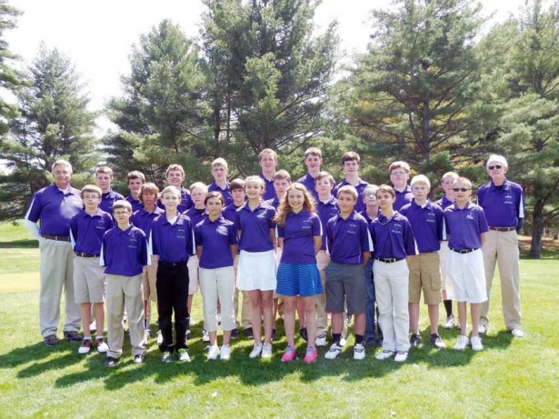 Front Row: Justin Hylton (left), Keegan Fitzgerald, Gabby Gessie, Kara Vaughan, Savannah Soucier, Garrett Vaughan and Cameron Moore; 2nd Row: Noah Hancock (left), DeAndre Griffith, Wyatt Lewis, Brandon Barnes, Jensen Brown, Sam Jewell, Kyle Morgan, Colin Wiley and Philip Zambos; Back Row: Coach Terry Koon (left), Jacob Hefner, Gavin Ray, Scott Soucier, Joshua White, Drew Bashlor, Seth Goodwin, Sam Snyder, Ryan Nuckles, Will Roark and Coach Mac Parks