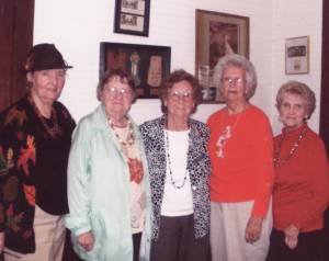 Williamsburg CEOS: C.K. Perkins (left), Ruth Kreft, Virginia Hanna, Blanche Knicely and Loretta Shirley
