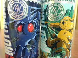 Introducing Cans - Greenbrier Valley Brewing Company will be introducing cans of their two signature ales, Mothman Black IPA and Wild Trail Pale Ale in 2015. (Photo by Leah Deitz)