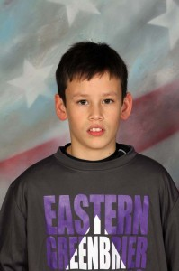 """Eastern Greenbrier Middle School NAME: Wiley Byers GRADE: 7th Grade PARENTS: Curtis and Joyce Byers CITY: Lewisburg GRADE POINT AVERAGE: 3.7 Favorite Quote: """"It's not the size of the dog in the fight, but the size of the fight in the dog"""" COACH'S COMMENT: """"What a pleasure to Coach. Wiley is so eager to learn. His thirst for Wrestling Knowledge and his Hard work will make him a success throughout the season.  He is also one of our Captains because he is a true leader."""""""