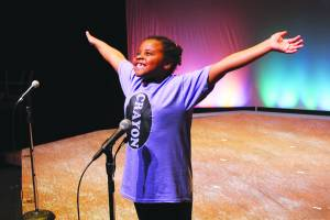 Sheridan Hughes in the 2015 GVTots Showcase, The Day the Crayons Quit (Photo courtesy Greenbrier Valley Theatre)