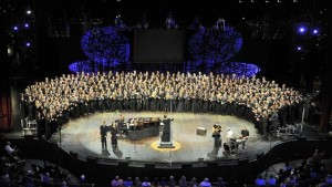 The 2014 NAfME All-National Honor Ensembles Choir performs at the Grand Ole Opry House in Nashville.