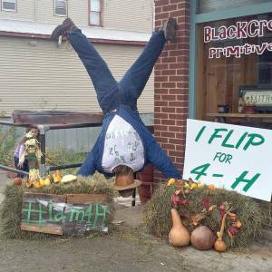 2014 Winner of the Scarecrow Decorating Contest - Route 92 4-H Group.
