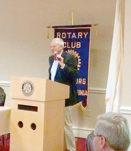 At Monday's Lewisburg Rotary Club meeting, Bill Clapham spoke to the members about his time as a volunteer with Catholic Relief Services in east Africa.