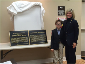 Townley (left) and Lawson Hamilton III unveil Townley Markers