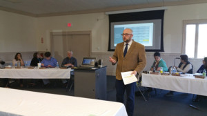 John Milliman, special education director for the WV Schools for the Deaf and Blind presented to the WVCEEC information on successfully meeting the needs of deaf/hard of hearing children through satellite instruction programs.