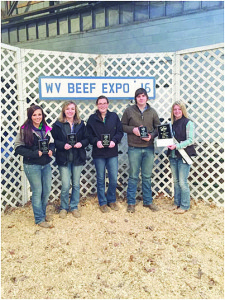 On Apr. 9, the Greenbrier East FFA Livestock Judging Team competed at the West Virginia Beef Expo Stockmans' Contest. There were over 370 individual contestants that made up more than 90 teams in the contest. Greenbrier East FFA team member Olivia McHale placed 8th overall individual. The team consisting of Olivia McHale (left), Kayelin Perry, Chole Dauwel and Andrew Vance placed 3rd overall team. Members of the team are pictured with the WV Beef Queen.