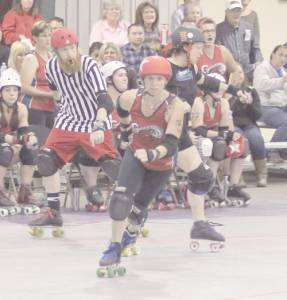 The Greenbrier River Rollers will host Chemical Valley Rollergirls Saturday night