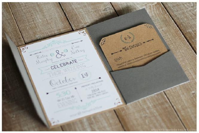 Customizable Style Western Wedding Invitation