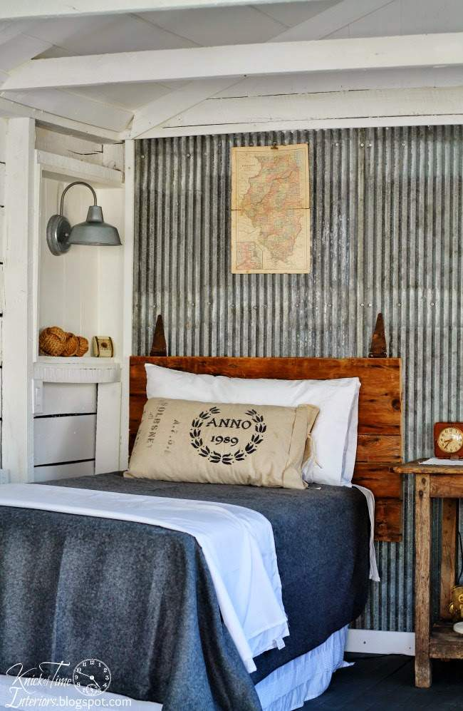 Guest Room Reveal with Reclaimed Corrugated Metal   Knick of Time Interiors