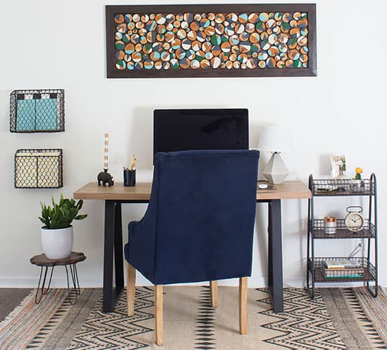 modern rustic office retreat | mountainmodernlife