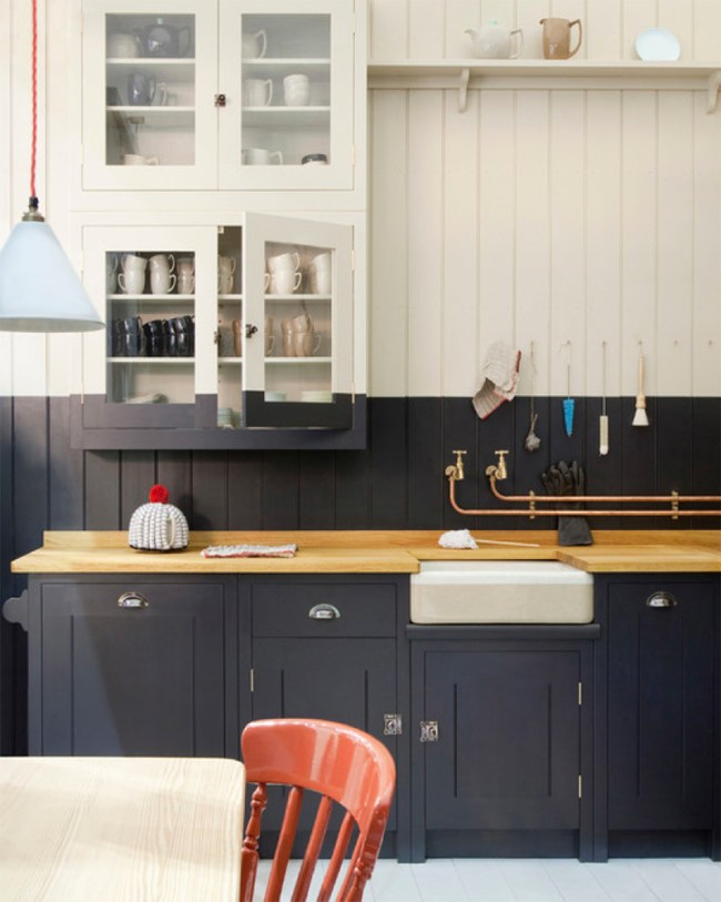 Stunning Kitchen Designs with 2-Toned Cabinets | Black, White + Copper Kitchen | British Standard by Plain English