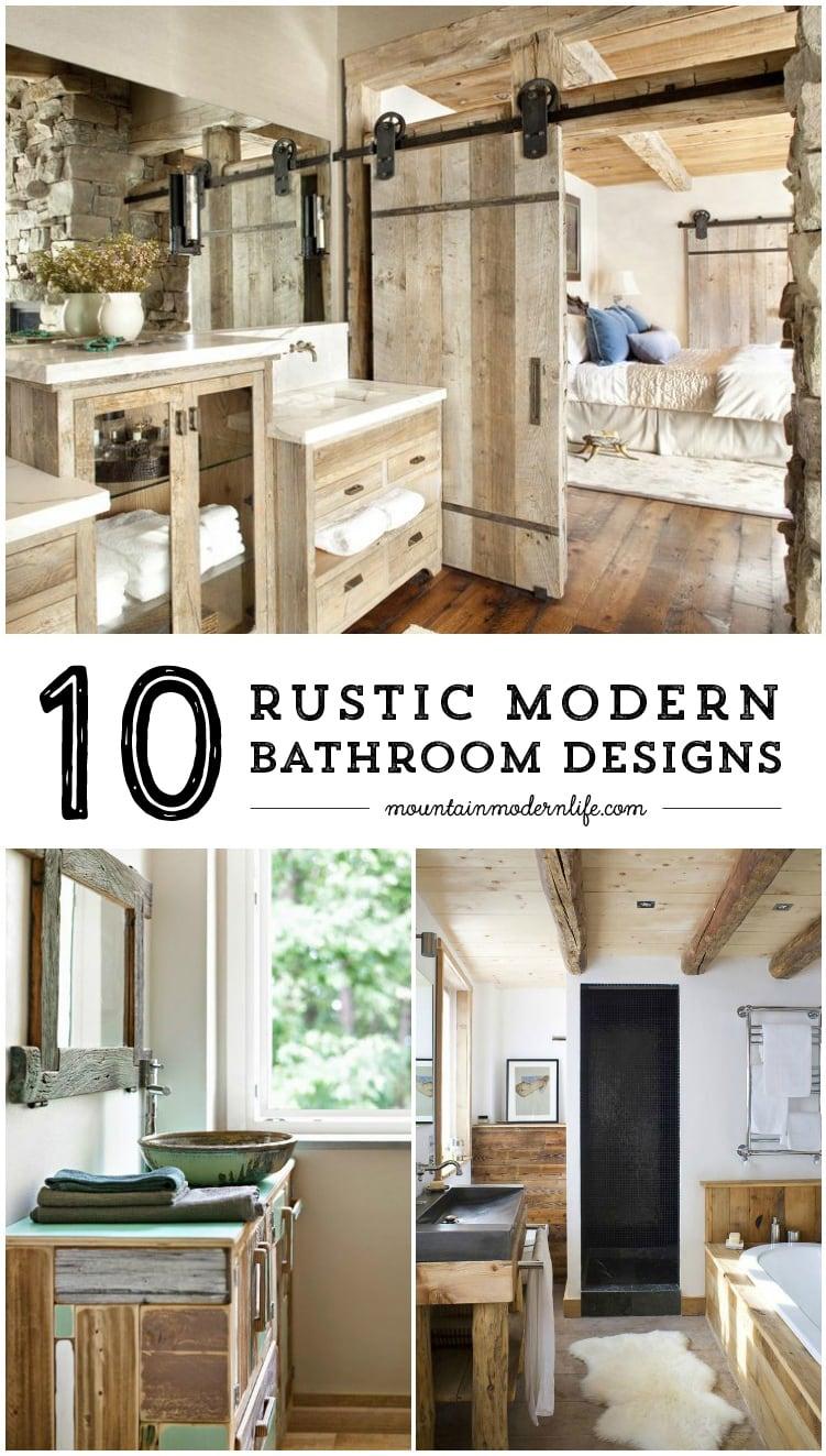 rustic modern bathroom designs mountainmodernlife com on rustic bathroom designs photos id=52259
