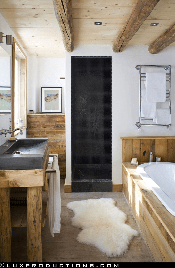 Rustic modern bathroom designs Home bathroom designs