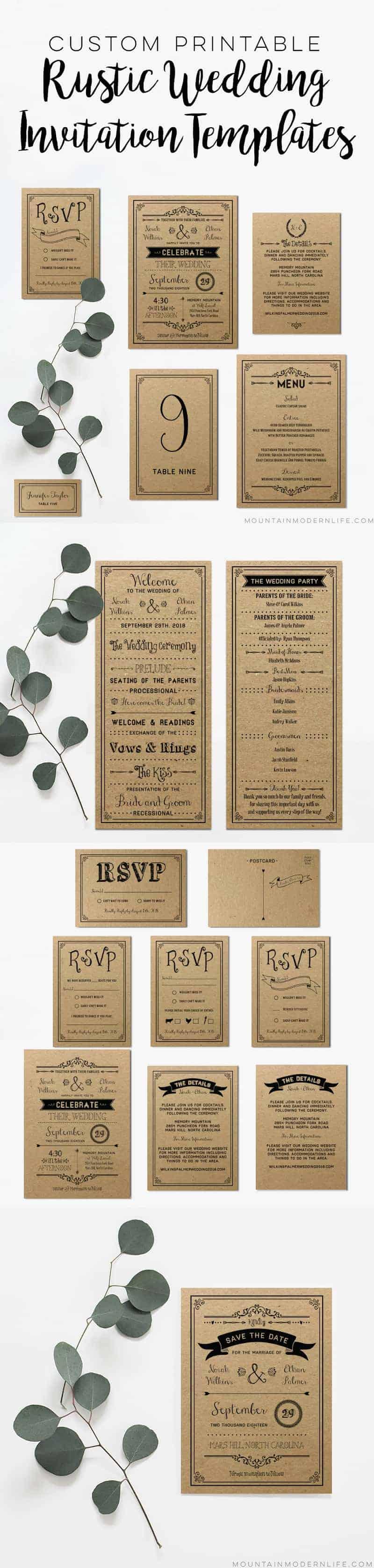 Custom Invitations Printable