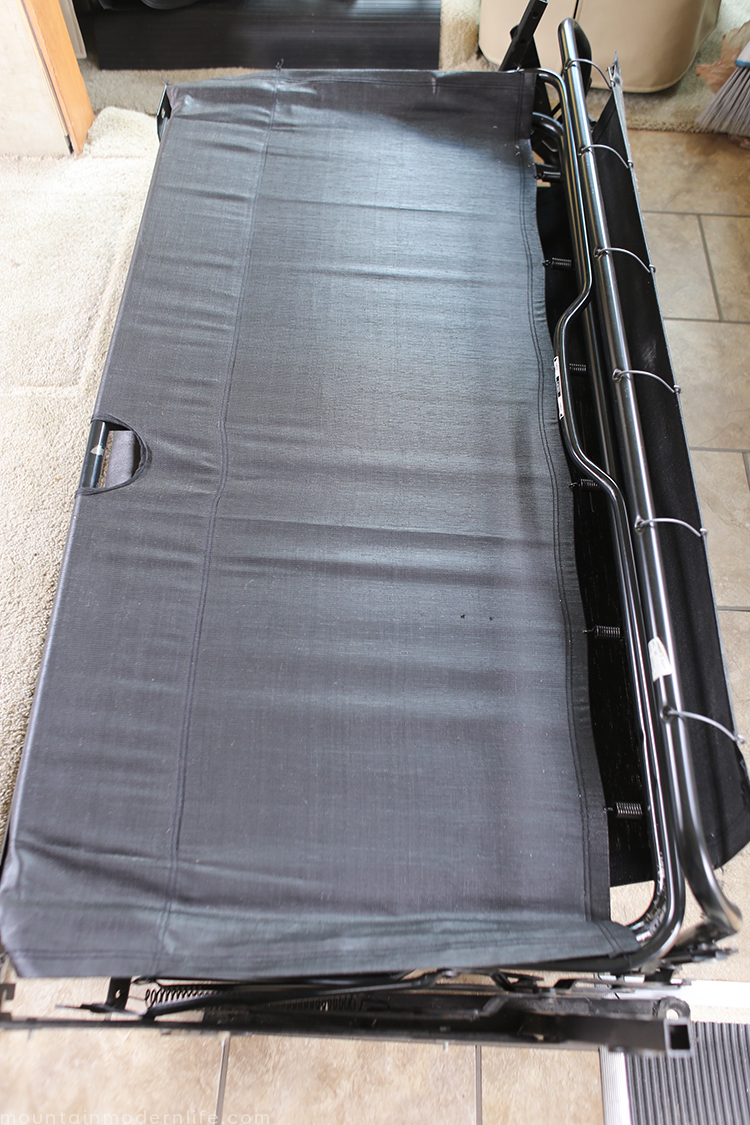 Planning to replace the couch in your motorhome? Some disassembling may be required. How to remove the sofa from your RV   MountainModernLife.com