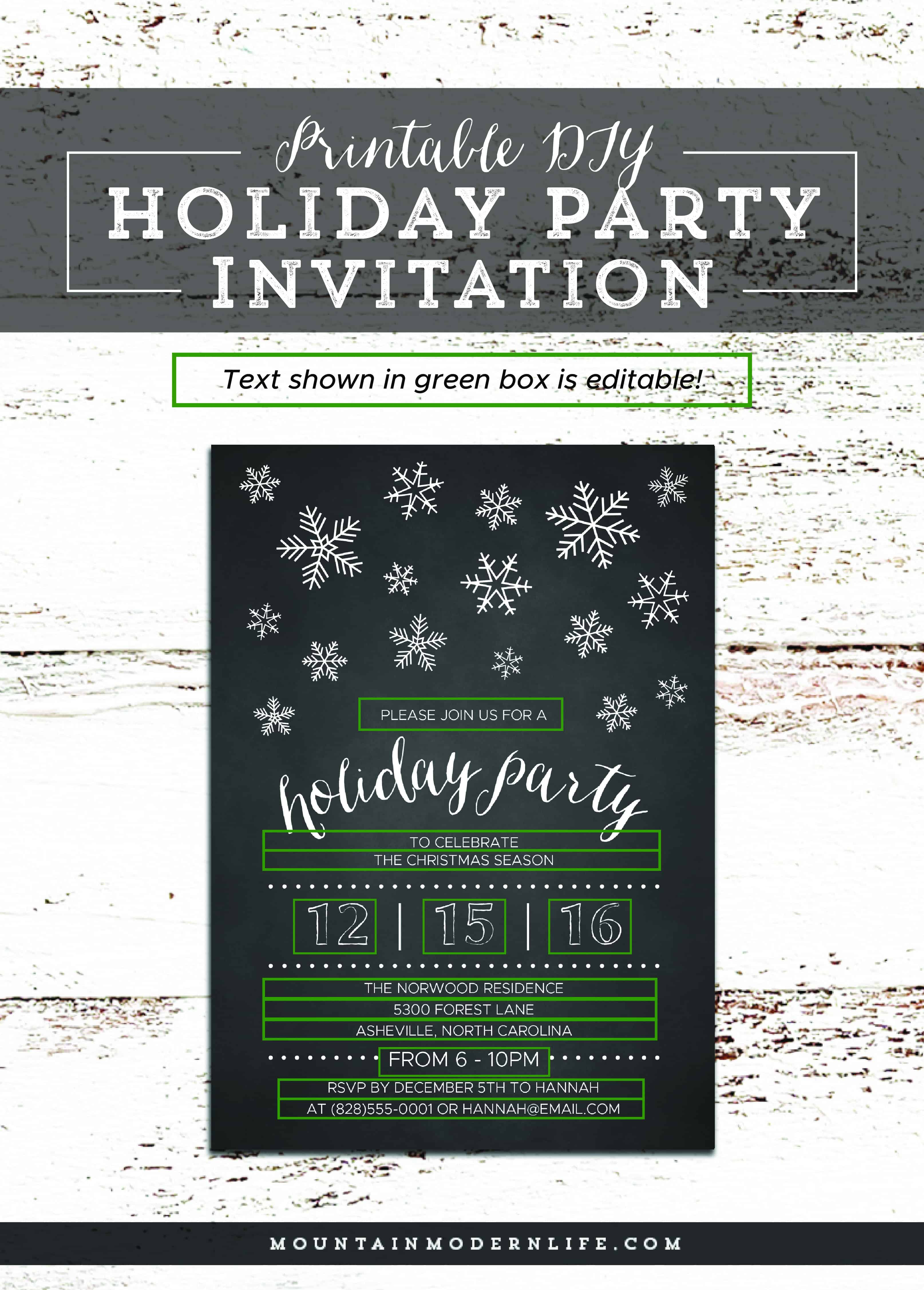 holiday party invitation template - Picture Ideas References