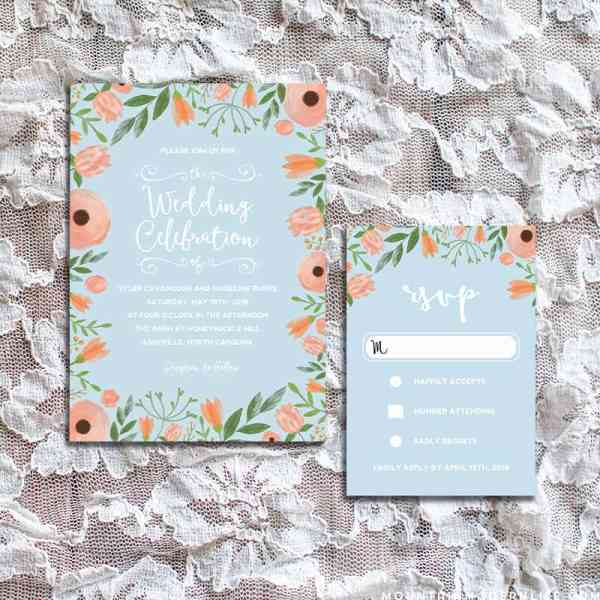 DIY Printable Wedding Invitation and RSVP Card Templates | MountainModernLife.com