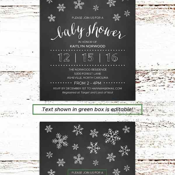 Printable DIY Baby Shower Invitation | MountainModernLife.com