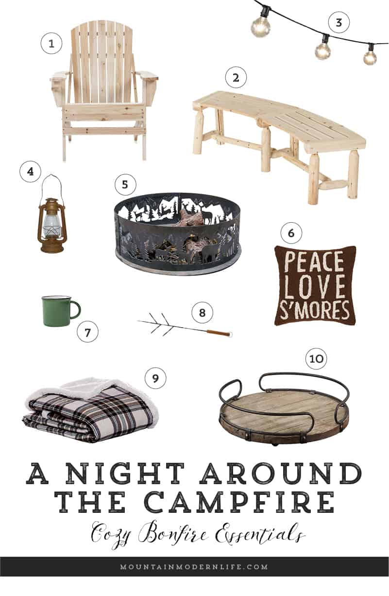 Make your next campfire extra cozy with these bonfire essentials, perfect for a night snuggling up underneath the stars. MountainModernLife.com