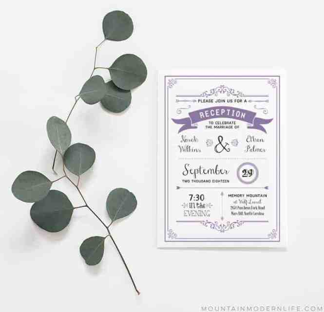 Diy Reception Only Invitation Template