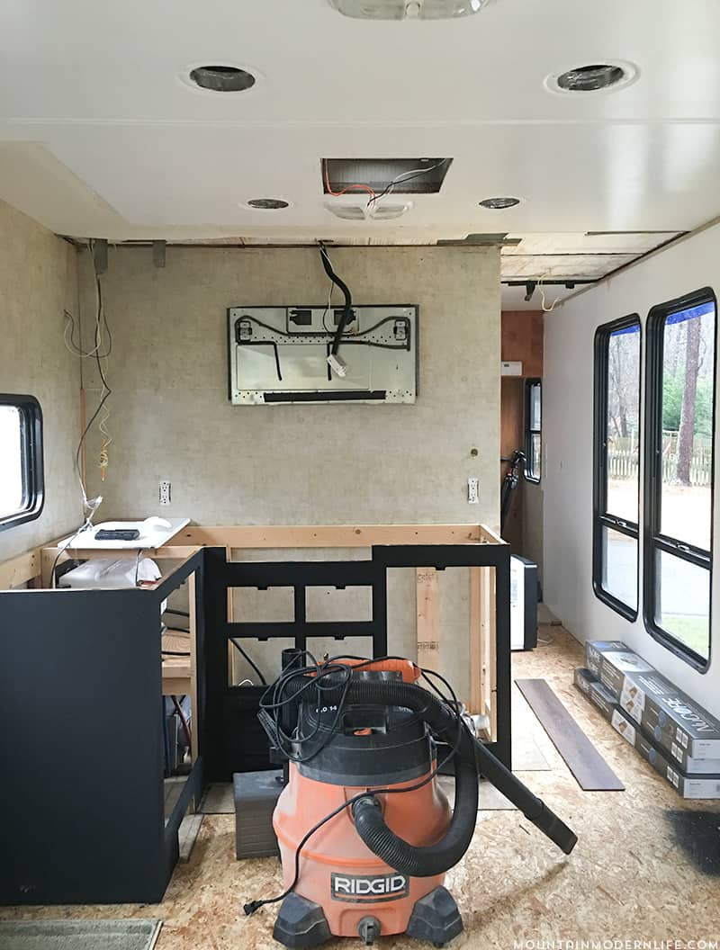 Painting RV Kitchen Cabinets after water leak