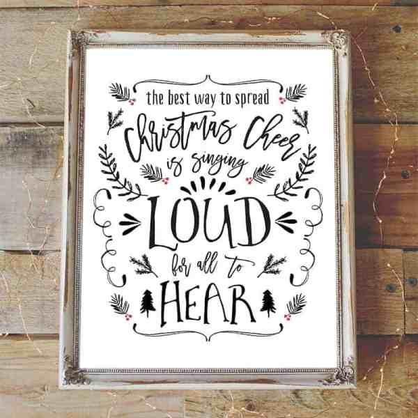 Christmas Cheer Printable | mountainmodernlife.com