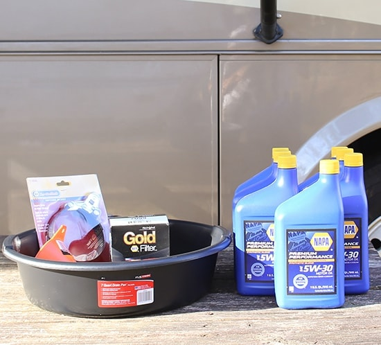 Changing the oil in a gas RV | MountainModernLife.com