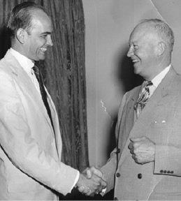 Congressman Wampler greets President Dwight D. Eisenhower.