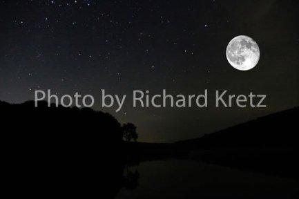 Moon over Hidden Valley Lake
