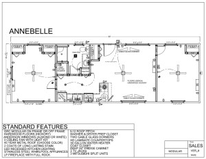 44' x 16' ANNEBELLE FLOORPLAN - Modular Log Home