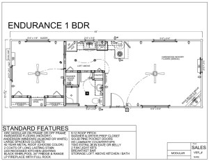 ENDURANCE 1 BDR FLOORPLAN - Modular Log Home