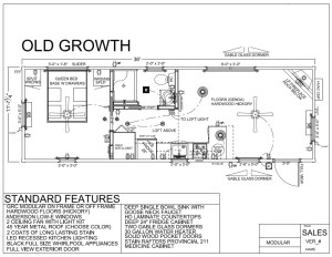 36' x 12' OLD GROWTH FLOORPLAN - Modular Log Cabin