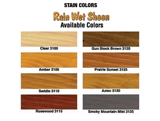 modular log home stains colors