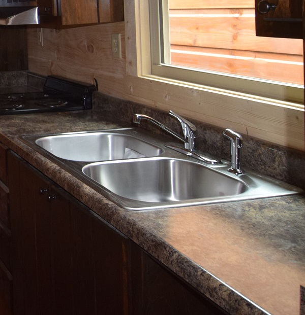 Stainless Steel Over-Counter Double Bowl sink with Std Faucet