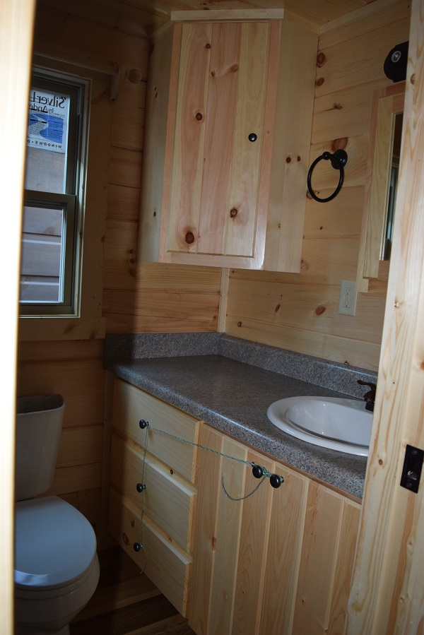 Vanity sink – over mount with double vanity, drawers