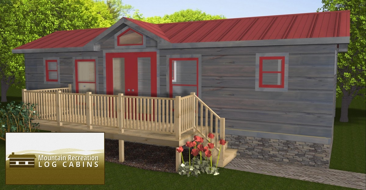 34u2032 X 12u2032 Campside Bunk Park Model Log Cabin