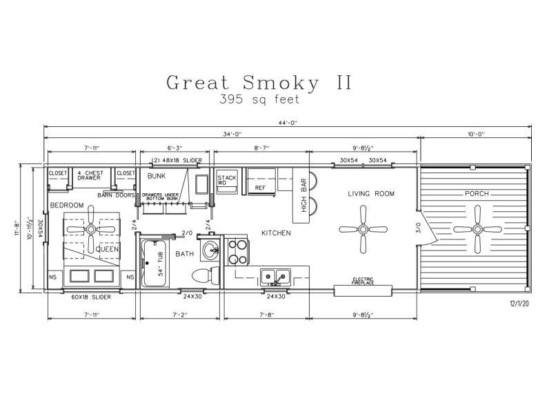 Great Smoky II Park Model Log Cabins