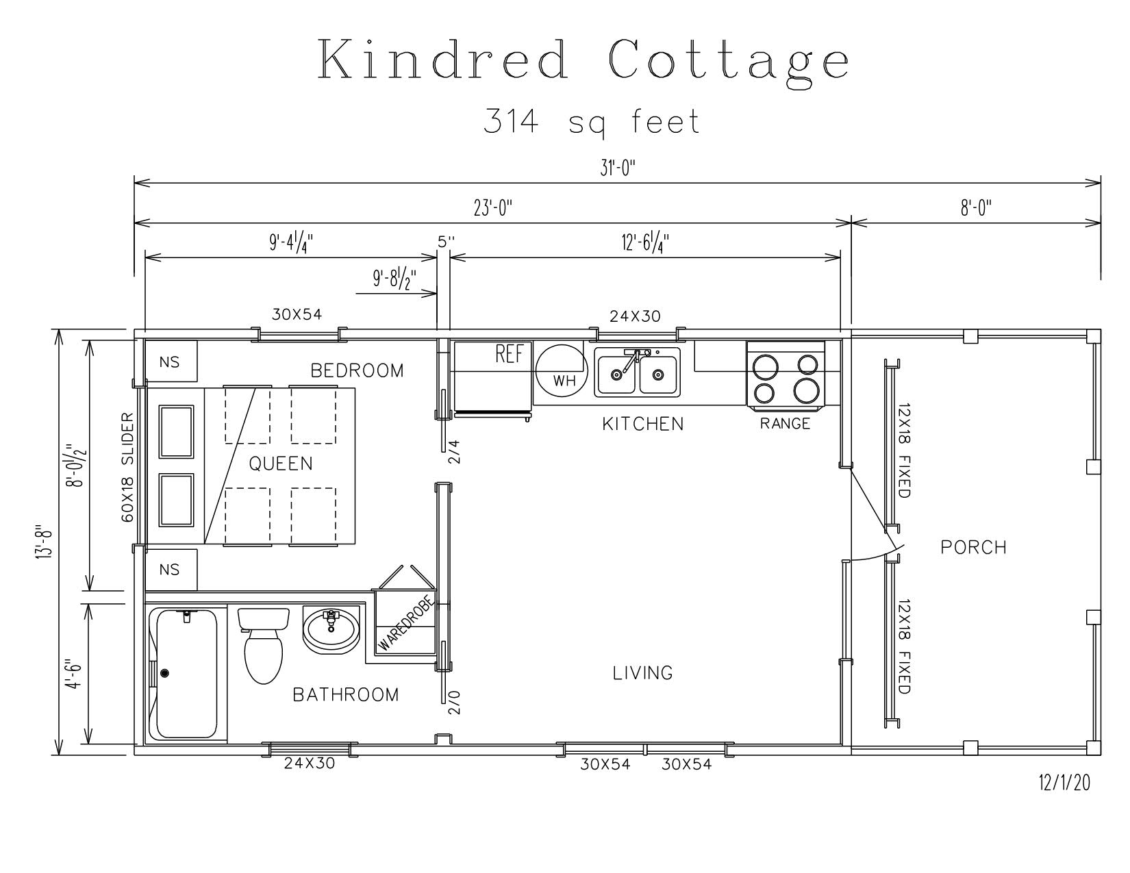 Kindred Cottage Park Model Log Cabin