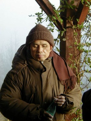 Zen Master Thich Nhat Hanh on the Deck of his Hermitage in Plum Village