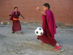 Monks Playing Soccer