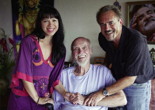 Ram Dass with Interviewers