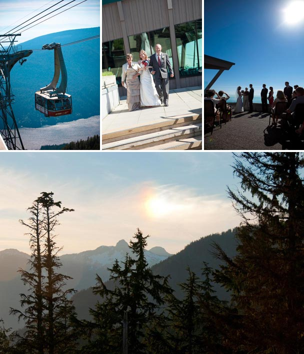 British Columbia Chairlift Wedding