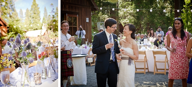 yosemite bride and groom at their wildflower reception