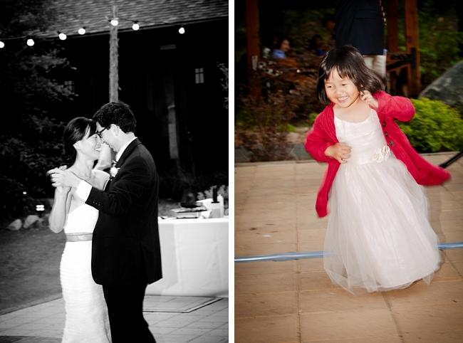 Yosemite bride and groom dance