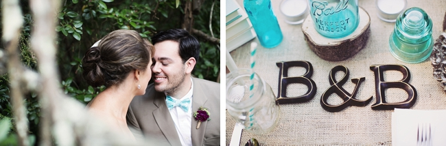 monogram rustic chic wedding via http://mountainsidebride.com