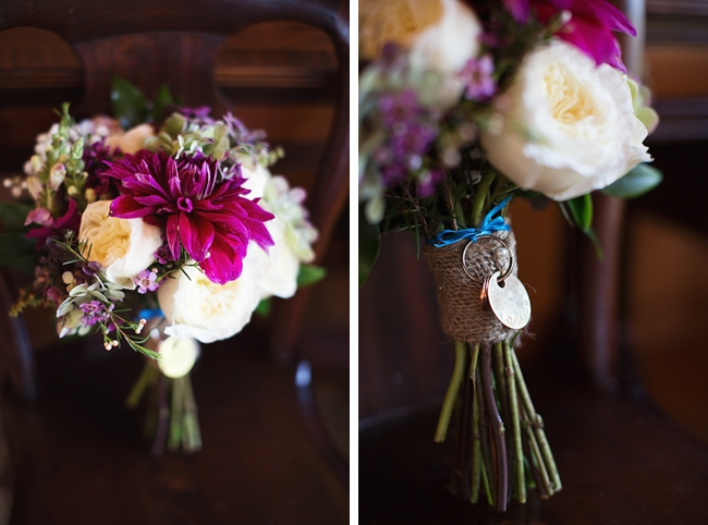 bouquets rustic chic wedding via http://mountainsidebride.com