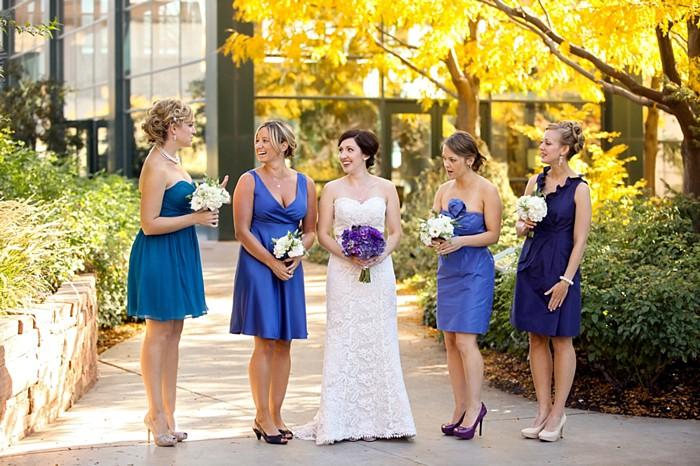 blue brides maids dresses